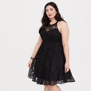 Torrid size 28 nwt glitter party dress